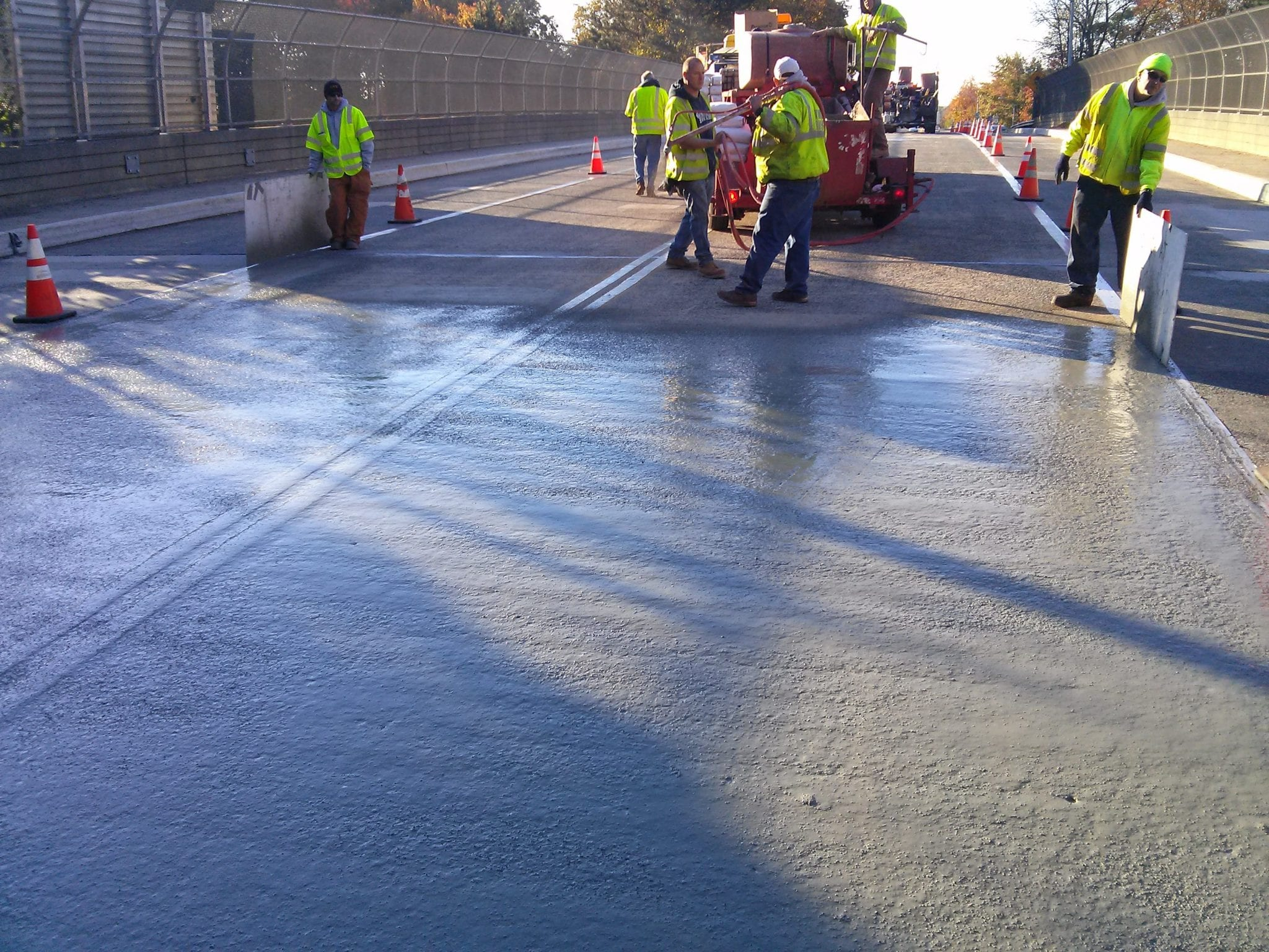 Bridge Deck Microsurfacing Installation