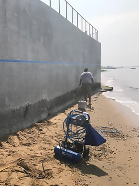 Sea Wall Resurfacing