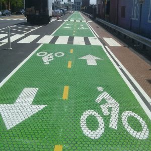 Зеленые велосипедные дорожки