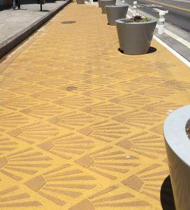 Decorative COncrete Pedestrian Plaza