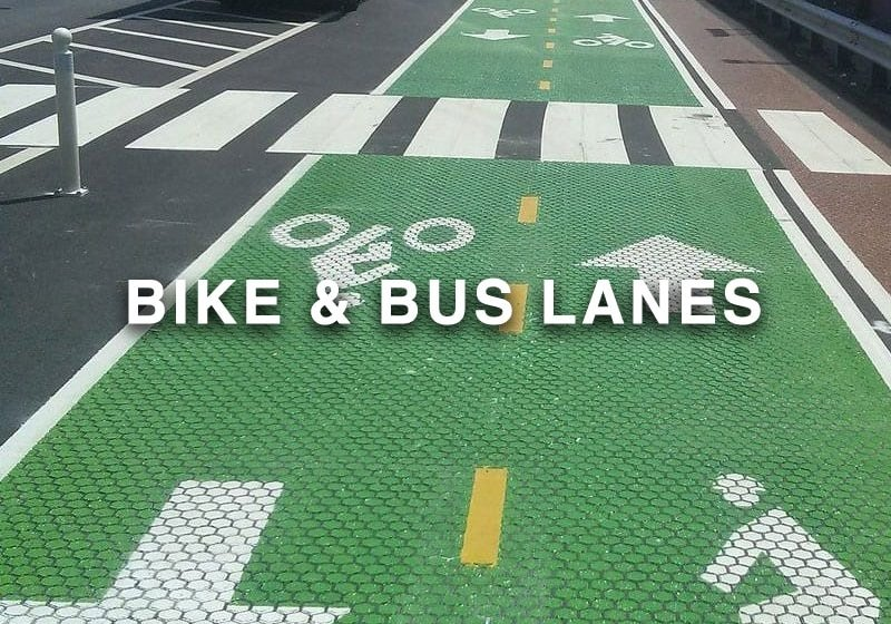 Bike and Bus Lanes