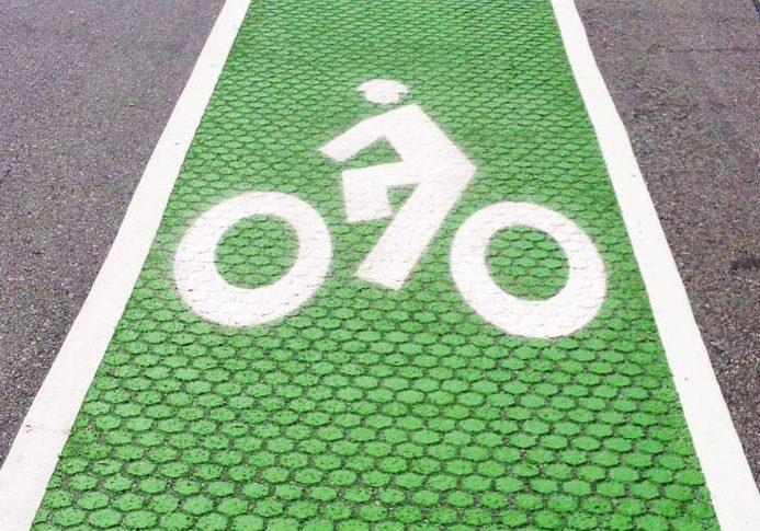 Λος Άντζελες πράσινο ποδήλατο Lanes